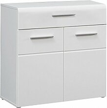 Kommode Slate 2 Türen 1 Schublade, Front weiß