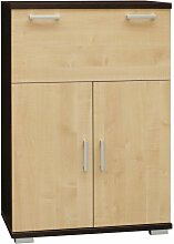 Kommode Trelew 14, Farbe: Wenge / Ahorn - 120 x 80
