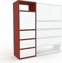 Kommode Weiß - Lowboard: Schubladen in Weiß &