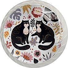 Kommodenknöpfe Schubladenknöpfe Nette Katzen mit
