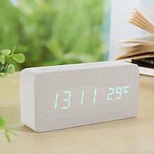 Komo Holz Alarm Clock LED Uhr elektronische Uhr
