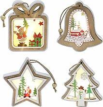Kompassswc 4er /Set LED Weihnachtsbaum
