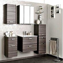 Komplett Badezimmermöbel Set Eiche dunkel