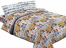 Komplett Bett Queensize Muster Vintage