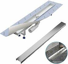 Komplett-SET - Duschrinne 120 cm AQUABAD® SDS Pro