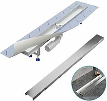 Komplett-SET - Duschrinne 80 cm AQUABAD® SDS Pro
