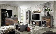 Komplett Set Wohnwand mit Sideboard und Couchtisch