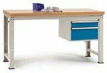 Komplett-Werkbank Grund PROFI Standard mit Kunststoffplatte, BxTxH = 1500 x 700 x 840 mm - WP5467.7035