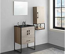 Komplettbad PHENA - Unterschrank + Waschbecken +