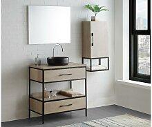 Komplettbad YAMINA - Unterschrank + Waschbecken +