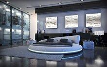 Komplettbett Rundbett Mezzo LED + Matratze + Lattenros