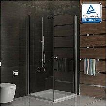 Komplette Dusche mit Eckeinstieg aus ESG Echtglas