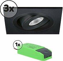 Komplettes Set 3 x LED-Einbaustrahler Alba