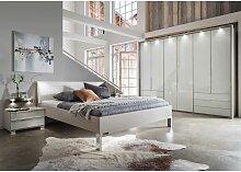 Komplettschlafzimmer in Hellgrau und Weiß