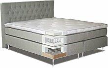 Komplettset Boxspringbett VITU, Box: Bonellfederkern, Matratze: Taschenfederkern, Top Matress: Schaumstoff - Abmessung: 140 x 200 cm
