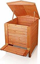 Kompostbehälter, mit Scharnier, Holz, 288L