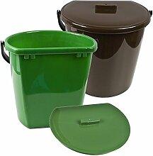 Komposteimer Eimer mit Deckel Mülleimer