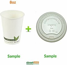 Kompostierbare Kaffeetassen, 228 ml (50-500