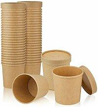 Kompostierbarer Papierbecher mit belüftetem