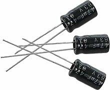 Kondensator - SODIAL(R)10 x 47uF 63V 105C Radial Elektrolytkondensator 6x11mm