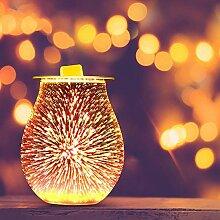 Konesky Feuerwerk Aroma Lampe, 3D elektrische Glas