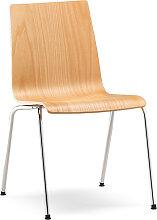 Konferenzstuhl 4-Fuß RIM Sitty SI 4104 Holzschale