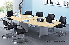 Konferenztisch Hammerbacher KT-Serie V 280 x 130 -