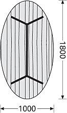Konferenztisch ITS Charme 180 x 100 cm oval