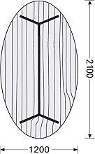 Konferenztisch ITS Charme 210 x 120 cm oval