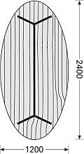 Konferenztisch ITS Charme 240 x 120 cm oval