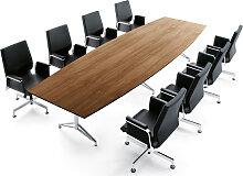 Konferenztisch ITS Charme 400 x 130 cm Bootsform