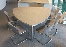 Konferenztisch Pendo Rondo Wankelform 160 cm
