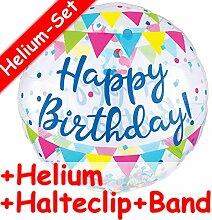Konfetti-Folienballon Set * HAPPY BIRTHDAY * +