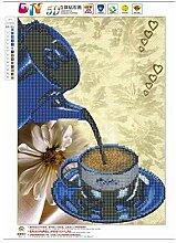 Kongqiabona Kaffee Muster 5D Diamant Malerei DIY