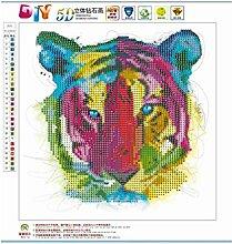 Kongqiabona Tiger Muster Diamant 5D DIY Diamant