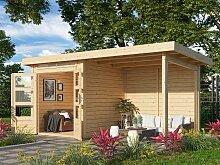 KONIFERA Gartenhaus Ammersee 1, mit Anbaudach ohne