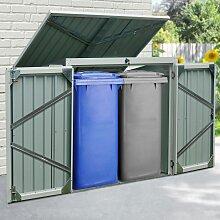 KONIFERA Mülltonnenbox Tobi 2, für 2x240 l,