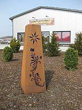 konische Rost Säule RS91 kostenloser Versand Gartensäulen Blumensäule rostig Säulen Deko Gartendeko