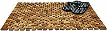 konsi-shop Duschvorleger Holz 80x50 Akazien