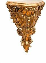 Konsole Wandkonsole Regal Wandregal Wandboard Goldfarben Barock Antik-Stil