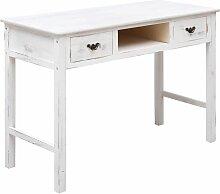 Konsolentisch Antik-Weiß 110 x 45 x 76 cm Holz -
