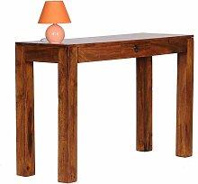 Konsolentisch aus Sheesham Massivholz Schublade