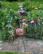Konstanze die Adelige Edelstahl Vogel mit Natursteinen Größe X ca. 120 cm