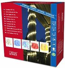 Konstsmide 3045-500 LED Lichterschlauch 9m / für Außen (IP44) /  230V Außen / 108 bunten Dioden / transparenter Schlauch