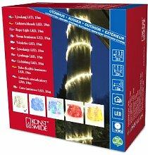 Konstsmide 3046-100 LED Lichterschlauch 18 / für Außen (IP44) /  230V Außen / 216 warm weiße Dioden / transparenter Schlauch