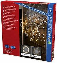 Konstsmide 3367-600 LED Dekoration variabler Lichterkranz/Lichtergirlande, braun/für Außen (IP44)/24V Außentrafo/240 warm weiße Dioden/braunes Kabel