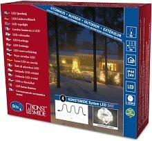 Konstsmide 4651-103 LED Hightech System Erweiterung / Lichterschlauch / für Außen (IP44) /  50 warm weiße Dioden / transparenter Schlauch