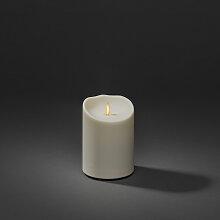 KONSTSMIDE LED-Kerze, LED Kerze cremeweiß, mit 3D