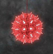 Konstsmide LED Lichterball Lichterkugel Leuchtball Kugel Funkeleffekt in ro