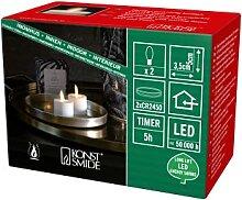 Konstsmide LED Teelicht mit 3D Flamme, cremeweiß,